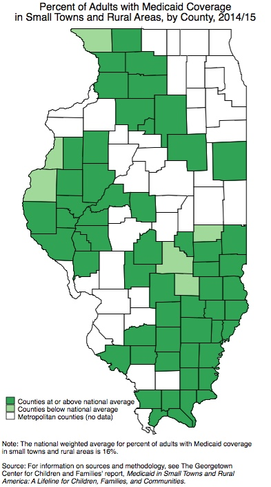 State Data on Adult Health Coverage in Small Towns and ...