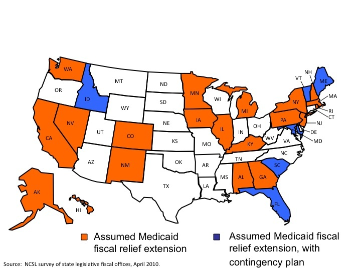 States Will Face Tough Choices Without Extended Medicaid Funding - Most recent magi map by us states